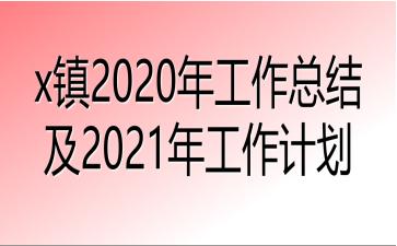 x镇2020年工作总结及2021年工作计划