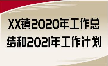 XX镇2020年工作总结和2021年工作计划