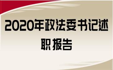2020年政法委书记述职报告