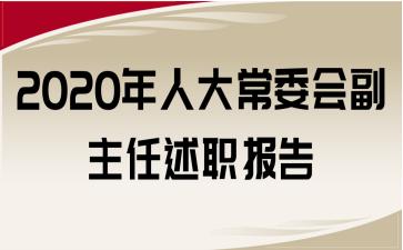 2020年人大常委会副主任述职报告