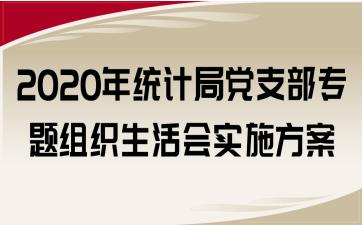 2020年统计局党支部专题组织生活会实施方案