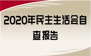 2020年民主生活会自查报告
