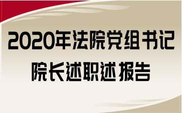 2020年法院党组书记院长述职述报告