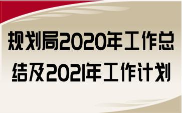规划局2020年工作总结及2021年工作计划