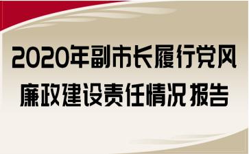 2020年副市长履行党风廉政建设责任情况报告