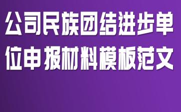 公司民族团结进步单位申报材料模板范文